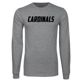 Grey Long Sleeve T Shirt-Cardinals
