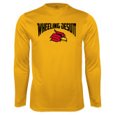 Syntrel Performance Gold Longsleeve Shirt-Wheeling Jesuit