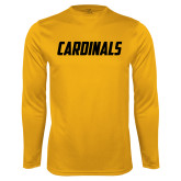 Syntrel Performance Gold Longsleeve Shirt-Cardinals