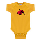 Gold Infant Onesie-Cardinal