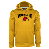 Under Armour Gold Performance Sweats Team Hoodie-Wheeling Jesuit