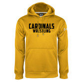 Under Armour Gold Performance Sweats Team Hoodie-Wrestling