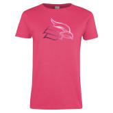 Ladies Fuchsia T Shirt-Cardinal  Foil