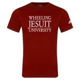 Adidas Cardinal Logo T Shirt-Wheeling Jesuit University