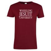 Ladies Cardinal T Shirt-Wheeling Jesuit University