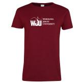 Ladies Cardinal T Shirt-WJU