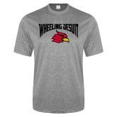 Performance Grey Heather Contender Tee-Wheeling Jesuit