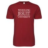 Next Level SoftStyle Cardinal T Shirt-Wheeling Jesuit University