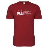 Next Level SoftStyle Cardinal T Shirt-WJU