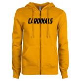ENZA Ladies Gold Fleece Full Zip Hoodie-Cardinals