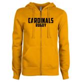 ENZA Ladies Gold Fleece Full Zip Hoodie-Rugby