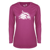 Ladies Syntrel Performance Raspberry Longsleeve Shirt-Cardinal