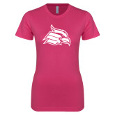 Ladies SoftStyle Junior Fitted Fuchsia Tee-Cardinal