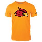 Adidas Gold Logo T Shirt-Cardinal