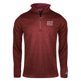 Russell Cardinal Heather 1/4 Zip-Wheeling Jesuit University