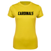 Ladies Syntrel Performance Gold Tee-Cardinals
