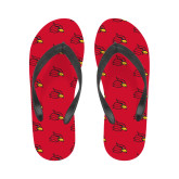 Ladies Full Color Flip Flops-Cardinal
