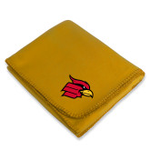 Gold Arctic Fleece Blanket-Cardinal