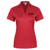 Ladies Red Performance Fine Jacquard Polo-Wheeling Jesuit