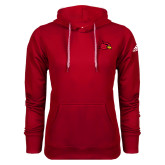 Adidas Climawarm Red Team Issue Hoodie-Cardinal