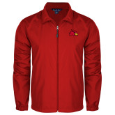 Full Zip Red Wind Jacket-Cardinal