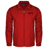 Full Zip Red Wind Jacket-Wheeling Jesuit