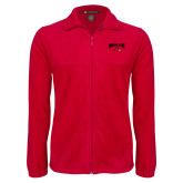Fleece Full Zip Red Jacket-Wheeling Jesuit