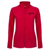 Ladies Fleece Full Zip Red Jacket-Wheeling Jesuit