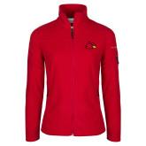 Columbia Ladies Full Zip Red Fleece Jacket-Cardinal