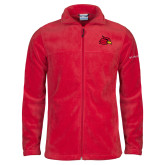 Columbia Full Zip Red Fleece Jacket-Cardinal