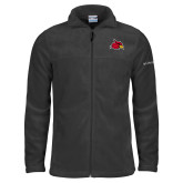Columbia Full Zip Charcoal Fleece Jacket-Cardinal