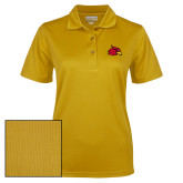 Ladies Gold Dry Mesh Polo-Cardinal