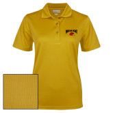 Ladies Gold Dry Mesh Polo-Wheeling Jesuit