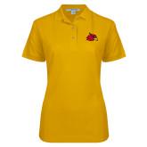 Ladies Easycare Gold Pique Polo-Cardinal