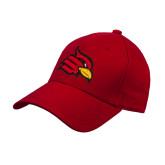 Red Heavyweight Twill Pro Style Hat-Cardinal