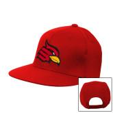 Red Flat Bill Snapback Hat-Cardinal