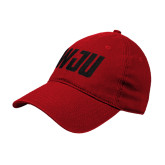Red Twill Unstructured Low Profile Hat-WJU