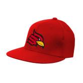 Red OttoFlex Flat Bill Pro Style Hat-Cardinal