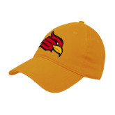 Gold Twill Unstructured Low Profile Hat-Cardinal