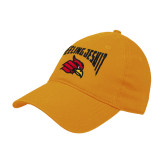 Gold Twill Unstructured Low Profile Hat-Wheeling Jesuit