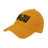 Gold Twill Unstructured Low Profile Hat-WJU