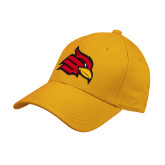 Gold Heavyweight Twill Pro Style Hat-Cardinal