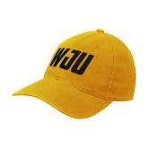 Gold Flexfit Mid Profile Hat-WJU