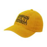 Gold OttoFlex Unstructured Low Profile Hat-Wheeling Jesuit University