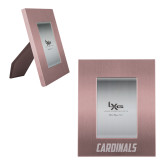 Pink Brushed Aluminum 3 x 5 Photo Frame-Cardinals  Engraved