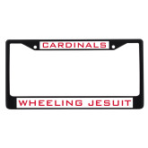 Metal License Plate Frame in Black-Cardinals