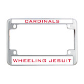 Metal Motorcycle License Plate Frame in Chrome-Cardinals