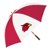 62 Inch Red/White Vented Umbrella-Cardinal
