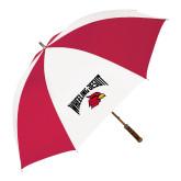 62 Inch Red/White Vented Umbrella-Wheeling Jesuit