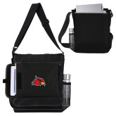 Impact Vertical Black Computer Messenger Bag-Cardinal